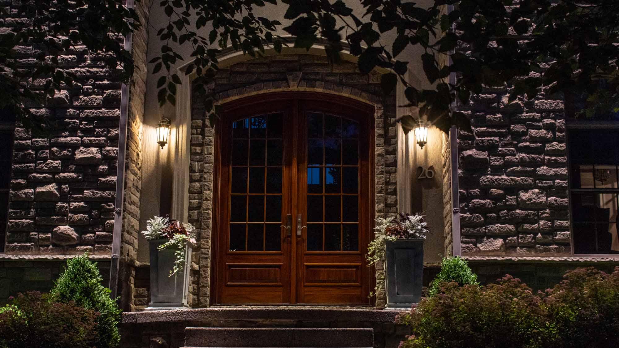 Entrance Lighting Luminated Landscapes